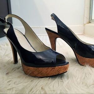 Nine West Shoes - Nine West Leather Pumps with Cork Like Soles